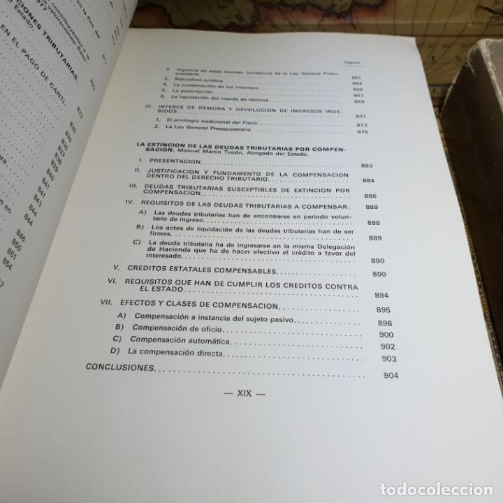 Libros antiguos: ESTUDIOS DE DERECHO TRIBUTARIO. TOMOS I Y II. MINISTERIO DE HACIENDA 1979. - Foto 7 - 149953302