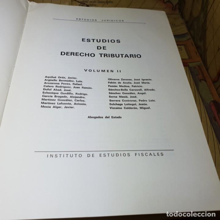 Libros antiguos: ESTUDIOS DE DERECHO TRIBUTARIO. TOMOS I Y II. MINISTERIO DE HACIENDA 1979. - Foto 8 - 149953302
