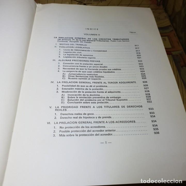 Libros antiguos: ESTUDIOS DE DERECHO TRIBUTARIO. TOMOS I Y II. MINISTERIO DE HACIENDA 1979. - Foto 10 - 149953302