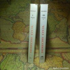 Libros antiguos: DERECHO CIVIL. VOLUMENES I Y II. MANUEL ALBADALEJO. LIBRERIA BOSCH 1989.. Lote 149986482