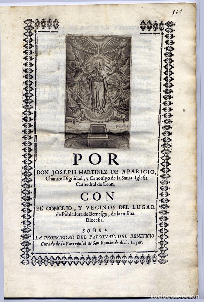 POR DON JOSEPH MARTINEZ DE APARICIO, CHANTRE DIGNIDAD Y CANÓNIGO DE LA SANTA IGLESIA DE LEON... 1706 (Libros Antiguos, Raros y Curiosos - Ciencias, Manuales y Oficios - Derecho, Economía y Comercio)