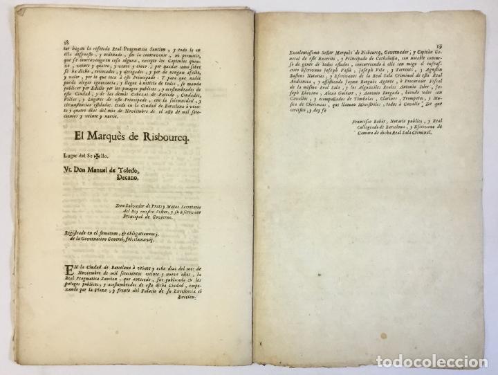 Libros antiguos: PRAGMATICA SANCION que su Magestad manda observar SOBRE TRAGES... 1729 - Foto 3 - 151424358