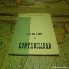 Libros antiguos: ELEMENTOS DE CONTABILIDAD. FEDERICO LEACH ALBERT. 1969.. Lote 151430258