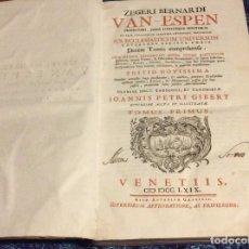 Libros antiguos: 1769. ENORME LIBRO DEL SIGLO XVIII. VENETIIS. 39 CM. DE ALTO. SALIDA A 0.01€. Lote 151561906