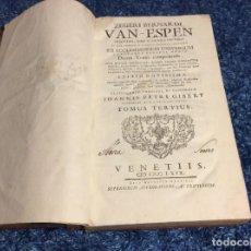 Libros antiguos: 1769. ENORME LIBRO DEL SIGLO XVIII. VENETIIS. 39 CM. DE ALTO. SALIDA A 0.01€. Lote 151561994