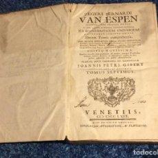 Libros antiguos: 1769. ENORME LIBRO DEL SIGLO XVIII. VENETIIS. 39 CM. DE ALTO. SALIDA A 0.01€. Lote 151562170