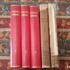 Libros antiguos: POLÍTICA INDIANA. CINCO TOMOS. EDICIÓN COMPLETA. JUAN DE SOLÓRZANO PEREYRA. CIAP, 1930.. Lote 151583926