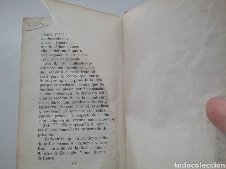 Libros antiguos: Libro Reglamentos del Consejo de Estado 1858 Madrid. Imprenta nacional. - Foto 4 - 151933040