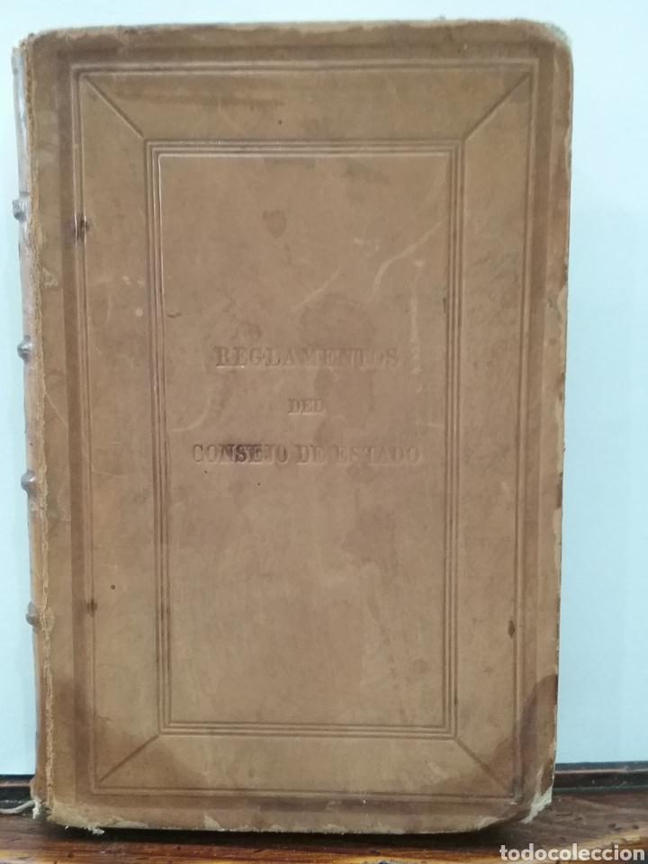 Libros antiguos: Libro Reglamentos del Consejo de Estado 1858 Madrid. Imprenta nacional. - Foto 7 - 151933040