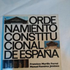 Libros antiguos: ORDENAMIENTO CONSTITUCIONAL DE ESPAÑA. Lote 152226054