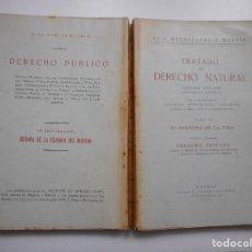 Libros antiguos: LUIS MENDIZÁBAL Y MARTÍN TRATADO DE DERECHO NATURAL. TOMO II Y92605 . Lote 152281358