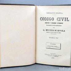 Libros antiguos: CÓDIGO CIVIL COMENTADO Y CONCORDADO MUCIUS SCAEVOLA IMP RICARDO ROJAS MADRID 1899 1900 TOMOS 15 Y 16. Lote 153223362