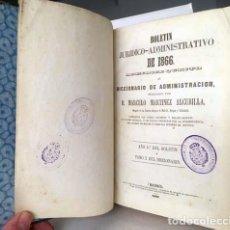 Libros antiguos: BOLETÍN JURÍDICO-ADMINISTRATIVO DE 1866 (APENDÍCE 5º AL DICCIONARIO DE ADMINISTRACIÓN) 832 PÁGS . Lote 153277386