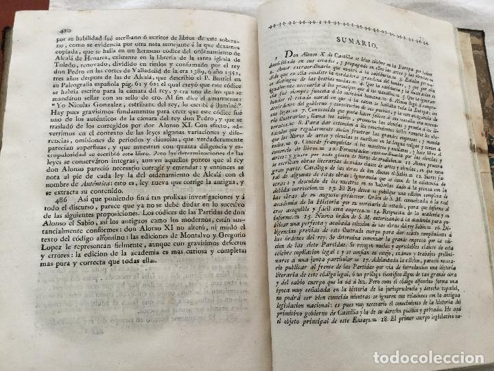 Libros antiguos: Ensayo Histórico-crítico sobre la Antigua legislación y principales cuerpos legal es de los Reynos - Foto 3 - 155128990
