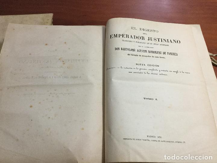 EL DIGESTO DEL EMPERADOR JUSTINIANO (Libros Antiguos, Raros y Curiosos - Ciencias, Manuales y Oficios - Derecho, Economía y Comercio)