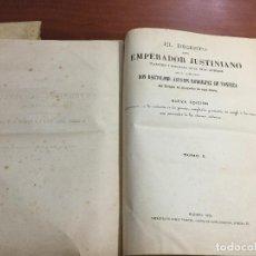Libros antiguos: EL DIGESTO DEL EMPERADOR JUSTINIANO. Lote 155140178