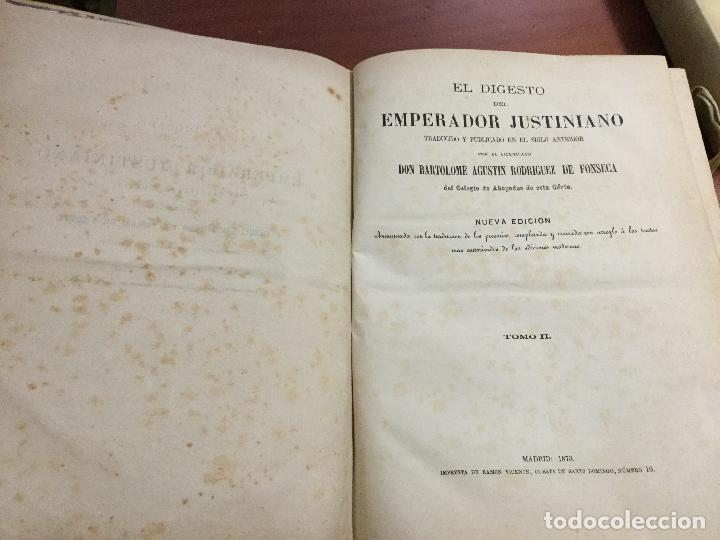Libros antiguos: El Digesto del Emperador Justiniano - Foto 4 - 155140178