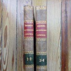 Livros antigos: DICCIONARIO DERECHO CANÓNICO DE ISIDRO PASTORA Y NIETO 1847-1848 MADRID 4 TOMOS PRECIOSOS Y RAROS. Lote 156741230