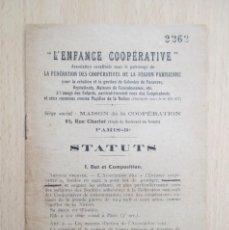 "Libros antiguos: ""L'ENFANCE COOPÉRATIVE"" ASSOCIATION. Lote 156891802"