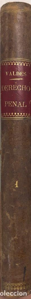 Libros antiguos: DERECHO PENAL. VALDES. TOMO PRMERO. MADRID 1892. PAGS 575. - Foto 3 - 156969998