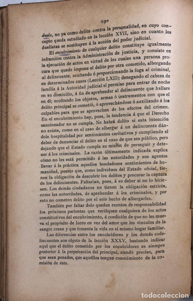 Libros antiguos: DERECHO PENAL. VALDES. TOMO PRMERO. MADRID 1892. PAGS 575. - Foto 4 - 156969998