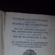 Libros antiguos: MEMORIAL AJUSTADO SOBRE EL CONTENIDO Y EXPRESIONES DE DIFERENTES CARTAS DEL OBISPO DE CUENCA - 1768. Lote 157301146