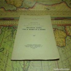 Libros antiguos: REGLAMENTO GENERAL PARA EL RÉGIMEN DE LA MINERÍA. DECRETO DE 9 DE AGOSTO DE 1946. EDITORIAL REUS.. Lote 157332894