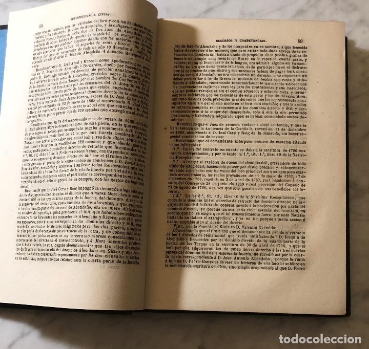 Libros antiguos: Jurisprudencia Civil-colección completa de las sentencias dictadas-TOMO XX-1869(21€) - Foto 3 - 157384714