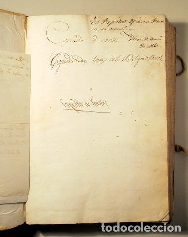 Libros antiguos: COPIADOR DE CARTAS del Sr. Jayme Bosch de Vich - Manuscrito - Comercio de guarnicionerí - 1825-1845 - Foto 3 - 158385877