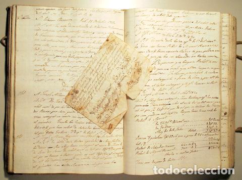 Libros antiguos: COPIADOR DE CARTAS del Sr. Jayme Bosch de Vich - Manuscrito - Comercio de guarnicionerí - 1825-1845 - Foto 4 - 158385877