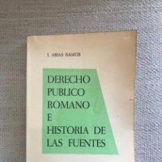Libros antiguos: LIBRO DERECHO PUBLICO ROMANO - AÑO 1964 - SEPTIMA EDICION - JOSE ARIAS RAMOS. Lote 158470174