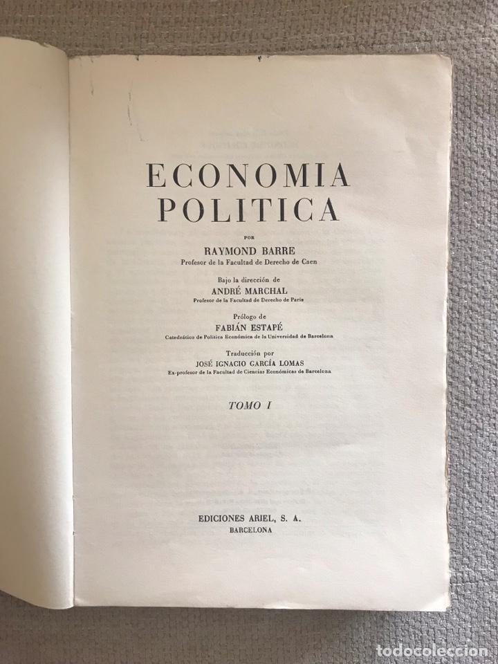 Libros antiguos: LIBRO ECONOMIA POLITICA - TOMO II EDICIONES ABRIL - RAYMOND BARRE - Foto 2 - 158472350
