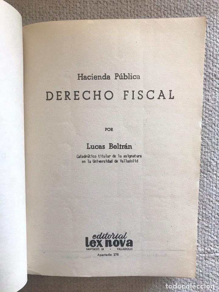 Libros antiguos: LIBRO HACIENDA PUBLICA DERECHO FISCAL - SEGUNDA EDICION - EDITORIAL LEX NOVA - LUCAS BELTRAN - Foto 2 - 158472838