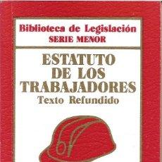 Libros antiguos: LIBRO ESTATUTO DE LOS TRABAJADORES. Lote 158559638