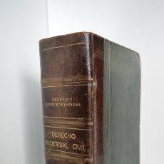 Libros antiguos: FAUSTINO MENENDEZ-PIDAL, DERECHO PROCESAL CIVIL. ELEMENTOS PARA SU ESTUDIO. PRIMERA EDICION, 1935.. Lote 158604906