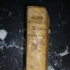 Libros antiguos: INSTITUTIONUM CANONICARUM LIBRI TRES JULIO LAURENTIO SELVAGIO 1773 PATAVII TOMUS -II--III . Lote 158905638