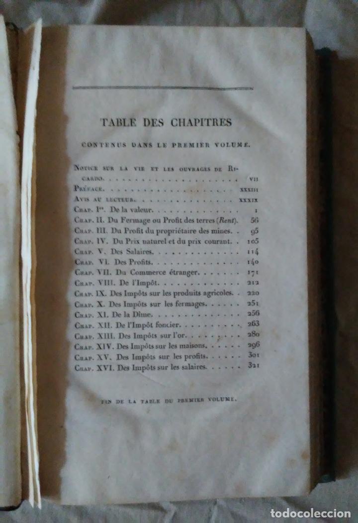Libros antiguos: PRINCIPIOS DE ECONOMIA POLITICA - DAVID RICARDO - 2 EDIC AÑO 1835. - Foto 3 - 159198862