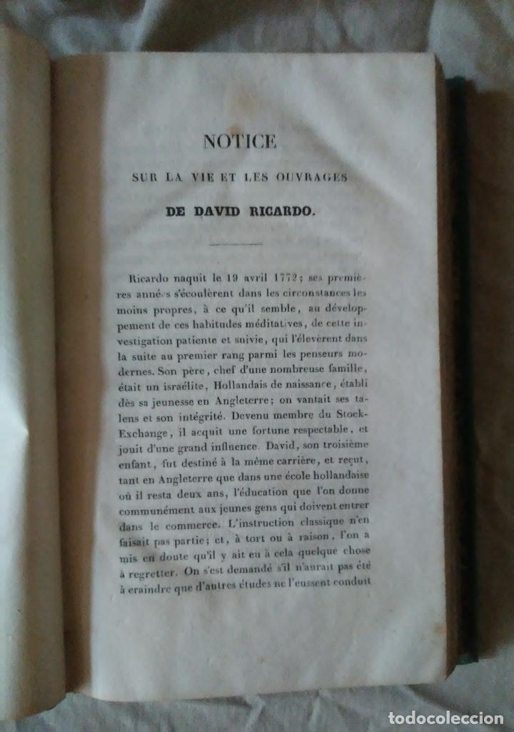 Libros antiguos: PRINCIPIOS DE ECONOMIA POLITICA - DAVID RICARDO - 2 EDIC AÑO 1835. - Foto 4 - 159198862