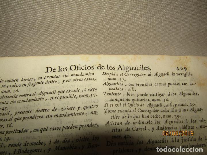 Libros antiguos: CASTILLO DE BOVADILLA, POLITICA PARA CORREGIDORES Y SR DE VASALLOS EN TIEMPO DE PAZ Y DE GUERRA,1775 - Foto 6 - 159362878