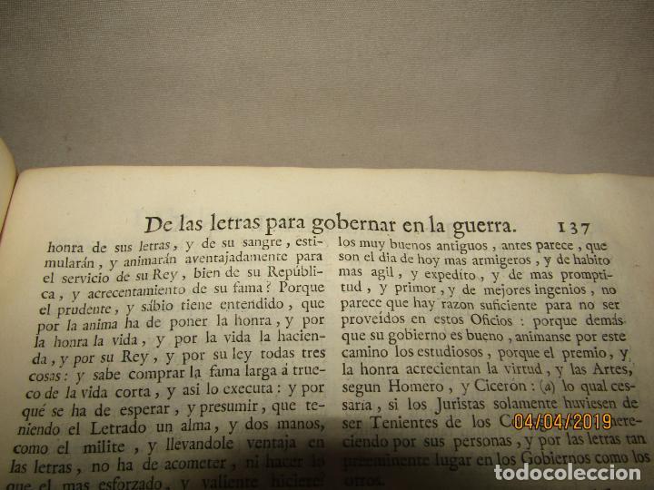 Libros antiguos: CASTILLO DE BOVADILLA, POLITICA PARA CORREGIDORES Y SR DE VASALLOS EN TIEMPO DE PAZ Y DE GUERRA,1775 - Foto 7 - 159362878