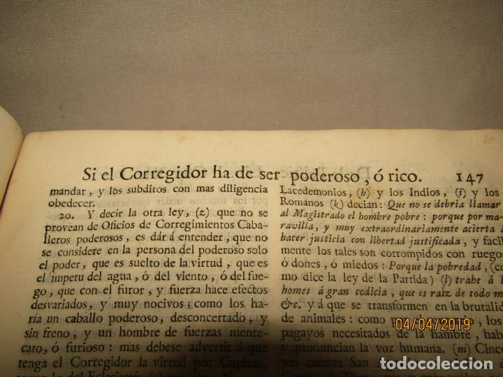 Libros antiguos: CASTILLO DE BOVADILLA, POLITICA PARA CORREGIDORES Y SR DE VASALLOS EN TIEMPO DE PAZ Y DE GUERRA,1775 - Foto 8 - 159362878