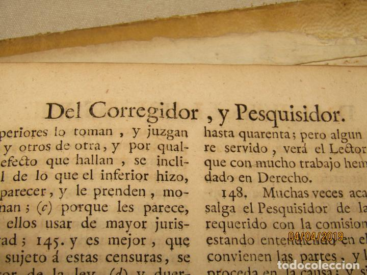 Libros antiguos: CASTILLO DE BOVADILLA, POLITICA PARA CORREGIDORES Y SR DE VASALLOS EN TIEMPO DE PAZ Y DE GUERRA,1775 - Foto 11 - 159362878