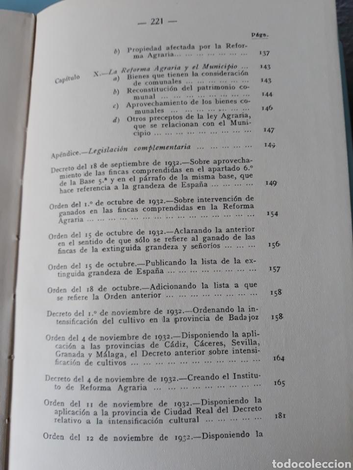Libros antiguos: Requena. Ley de la reforma agraria - Foto 6 - 160029880