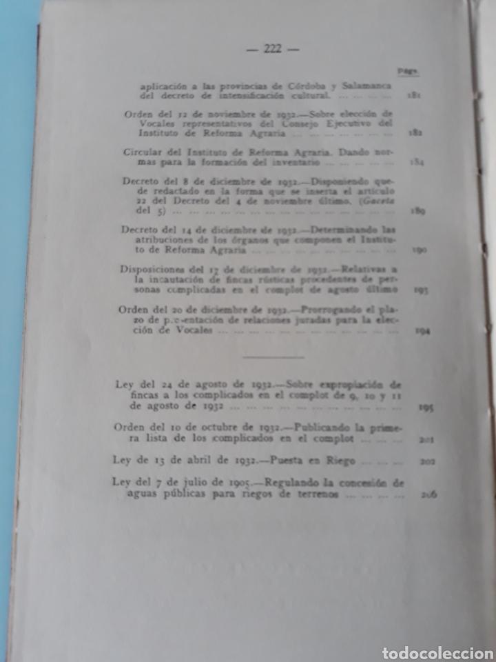 Libros antiguos: Requena. Ley de la reforma agraria - Foto 7 - 160029880