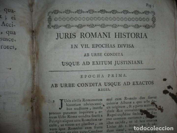 Libros antiguos: JURIS ROMANI HISTORIA -INSTITUTIONES ROMANO-HISPANAE JOANNIS SALA 1895 VALENTIAE - Foto 9 - 160646762