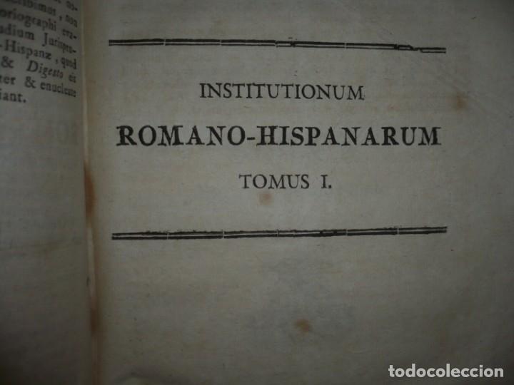 Libros antiguos: JURIS ROMANI HISTORIA -INSTITUTIONES ROMANO-HISPANAE JOANNIS SALA 1895 VALENTIAE - Foto 7 - 160646762