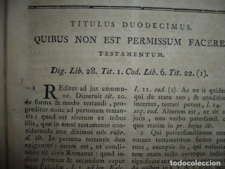 Libros antiguos: JURIS ROMANI HISTORIA -INSTITUTIONES ROMANO-HISPANAE JOANNIS SALA 1895 VALENTIAE - Foto 15 - 160646762