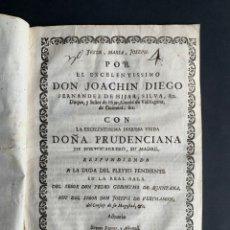 Libros antiguos: 1751 - PLEITO ENTRE EL DUQUE DE HIJAR Y SU MADRE, PRUDENCIANA PORTOCARRERO - CATALUÑA - NOBLEZA. Lote 161075990