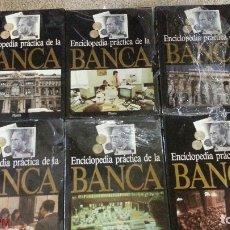 Libros antiguos: ENCICLOPEDIA PRACTICA DE LA BANCA - 6 TOMOS - (4 CON RESTOS DEL PRECINTADOS - NUEVO - SIN USO). Lote 120352511
