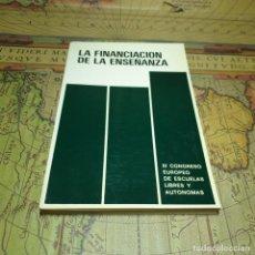 Libros antiguos: LA FINANCIACIÓN DE LA ENSEÑANZA. III CONGRESO EUROPEO DE ESCUELAS LIBRES Y AUTÓNOMAS. 1979.. Lote 161478582